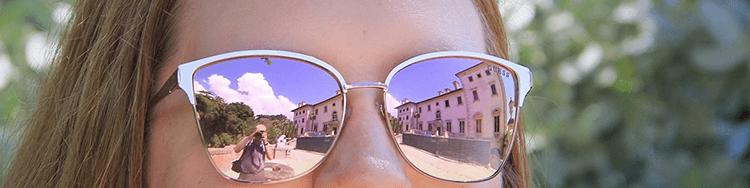 bril reflectie